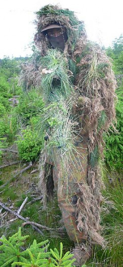A hunter in a Ghillie Suit can look very Bigfoot-like.