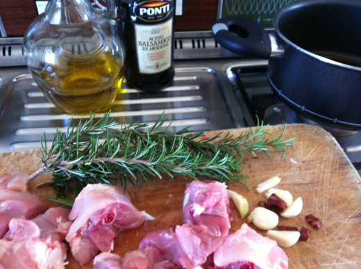 Ingredients for Cacciatore