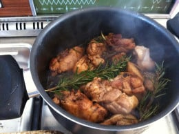 Add balsamic vinegar and brown until cooked