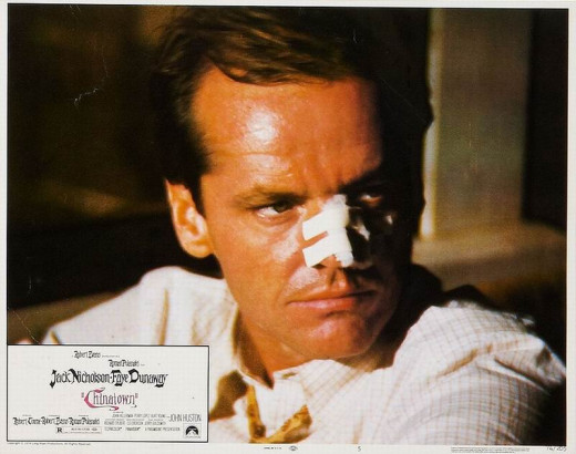 Jack Nicholson in Chinatown (1974) Lobby card.
