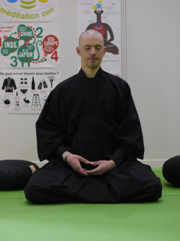 Just sitting meditation can be done any time of the day.
