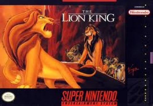 The Lion King Video Game was based on the film of the same name. It features cut scenes directly from the animated movie.