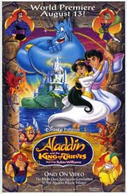 Aladdin Is a wonderful animated film and Robin Williams character was one of a kind. The music and sound effects were one of a kind and fit the film well.