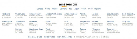 Screenshot of Amazon's affiliates (Source: Amazon.com)