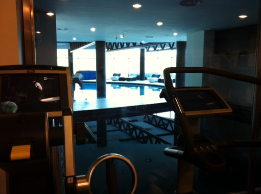 The gym first