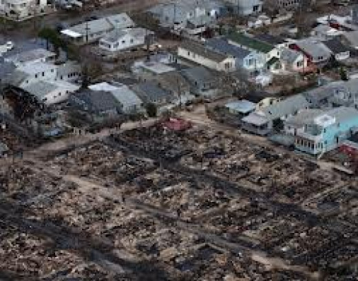 Fire destroyed many homes that were initially flooded but because many could not afford flood insurance they may not qualify for aid.