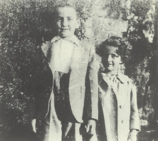 Lillian and her brother, Maurice before the war began.