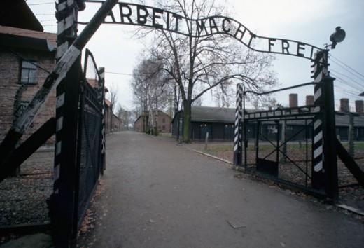 """Gates to Auschwitz - """"Work Makes Free"""""""