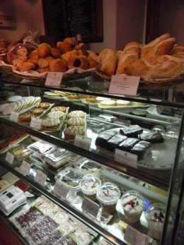Pastries and desserts. They also sell a small selection of precut meats and pate