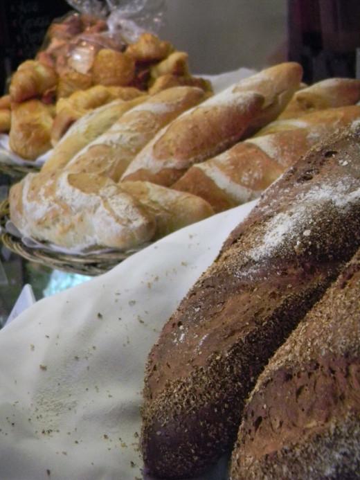 Fresh crusty artisian breads