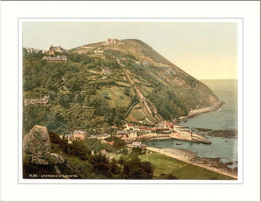 General view Lynton and Lynmouth England