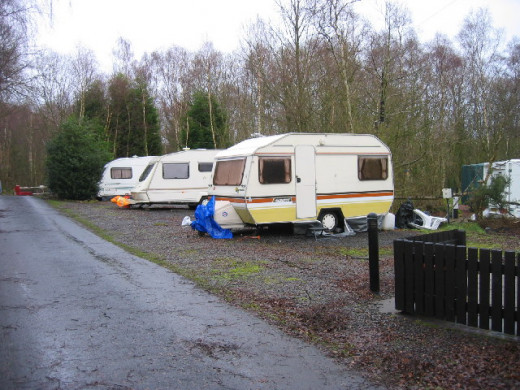 ...the old caravan he shared with his mother...