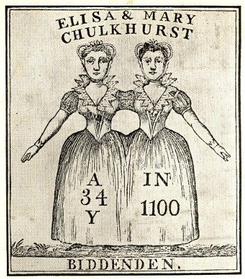 Engraving of the Biddenden Twins