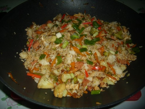 Meat and Vegetable Fried Rice