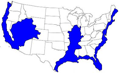 This is a map of what the US could look like after the New Madrid Fault Zone adjusts according to FEMA and the US Dept. of the Navy