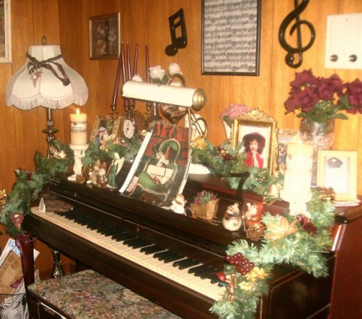 Decorated piano