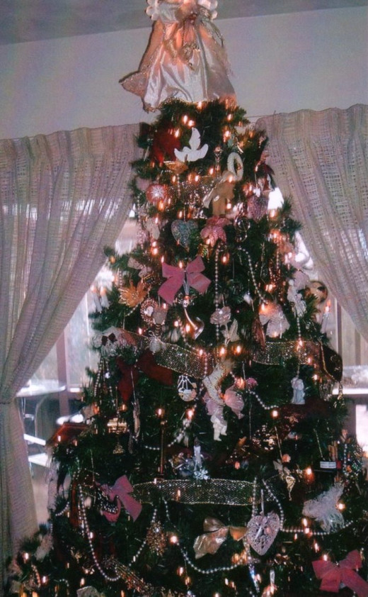 My own pretty artificial Christmas tree
