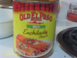 Enchilada sauce vy Old El Paso makes this recipe easy to make.