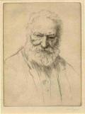 Victor Hugo, drawn by Alphonse Legros