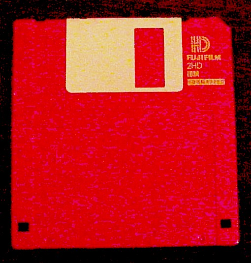 "A standard ""high-density"" 3.5-inch diskette of the type that is used with the Mavica-91camera"