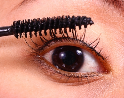 apply mascara thinly to avoid clumping. separate lashes with a comb brush or an old clean  brush applicator.