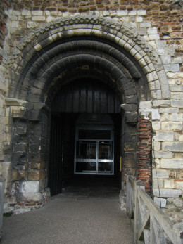 Colchester Castle front doorway