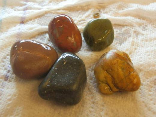 unpolished beach pebbles