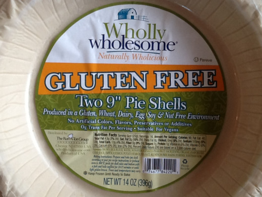 Frozen gluten free pie crust from Whole Foods saves time and produces a flaky crust
