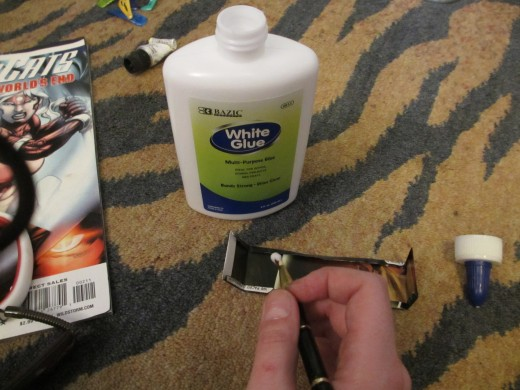 Brush a thin layer of glue on all the edges and firmly press them into place.