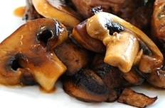 Mushrooms in Turkey Au jus
