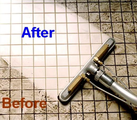 Cleaning Grout Between Tiles Floors Bathroom Shower