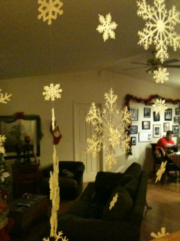 Snowflakes in the entryway