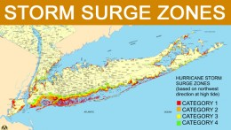 Storm Surge Zones for Long Island