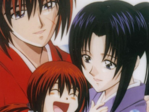 Himura and Kauro with their son.