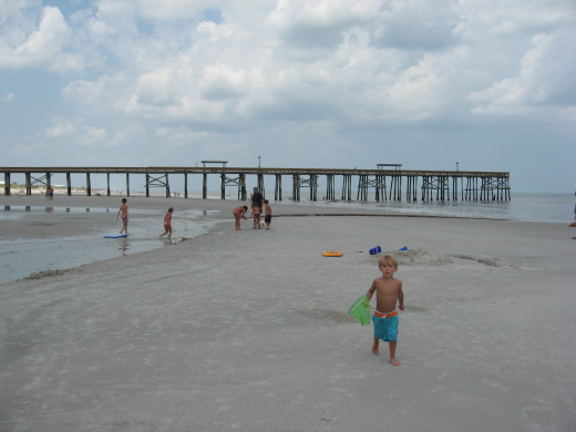 Kids love the wide sandy beaches.