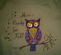 Painted tee shirt created from an iron-on transfer for our 3-year-old granddaughter.