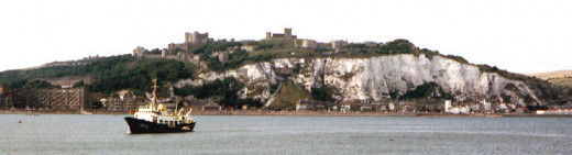 East Dover coast from the sea in1964. A substantial amount of redevelopment of the Eastern Docks and ferryport has taken place in the intervening 40 plus years, with the inclusion of direct road access and land infill.