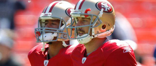 Colin Kaepernick(Back Left), and Alex Smith(Front Right)
