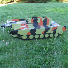 This thing can take flight. Who wouldn't want a FLYING TANK??