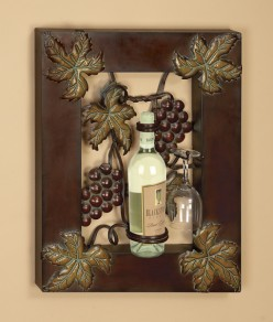 Wall Decor  Kitchen on Wine Wall Art  Decorating A Kitchen With Tuscan Charm