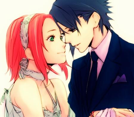 Sasuke and Sakura.