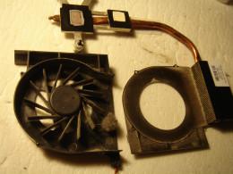 Dust inside the fan before clean up.