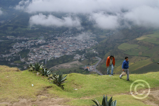 The town of Alausi in the Andes