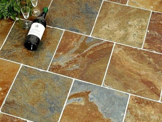 Slate tiles are vulnerable to staining through wine spills and other acid foods and drinks.