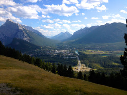 The view of Banff town site form the nearby Mt Norquay lookout point