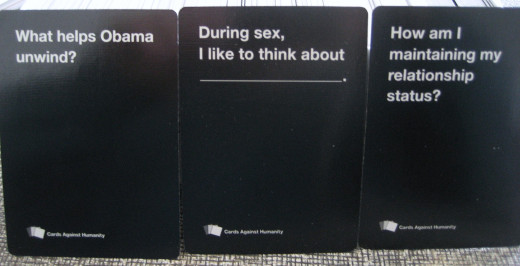 Some example black cards.