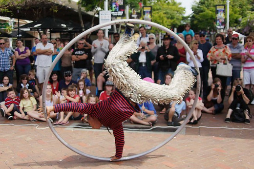 Coffs Buskers and Comedy festival, week of laughs and street performances. Sept/Oct