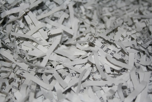 Shredded paper is often associated with the hiding of corrupt business practices.