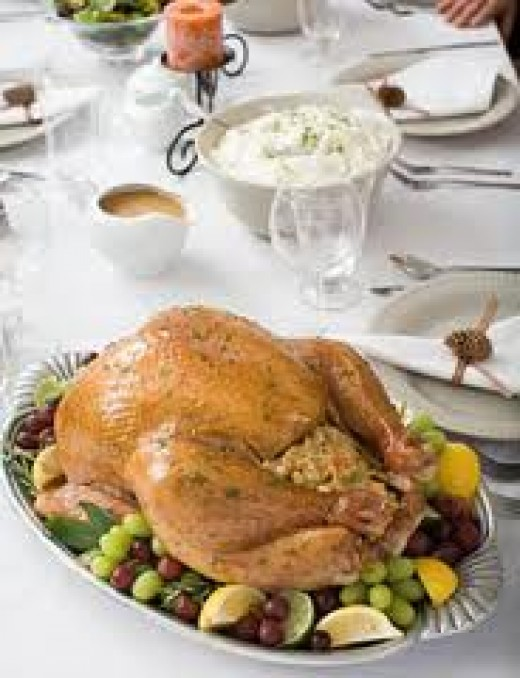 Fried Turkey with Grapes and cinnamon Glaze is a unique and tasty dish to serve on Thanksgiving day.