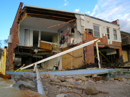 This house in Seagate (South Brooklyn) suffered a lot of damage